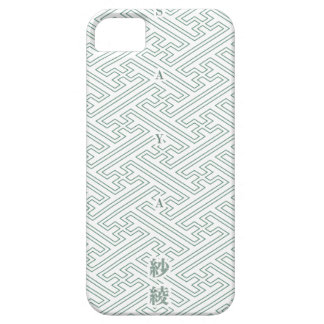 "Japanese classic pattern ""SAYA"". Harmony handle iPhone 5 Case"