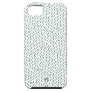 "Japanese classic pattern ""SAYA"". Harmony handle iPhone 5 Cover"