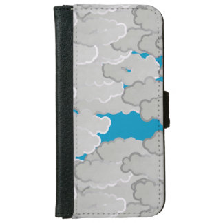 Japanese Clouds, Summer Day, White and Sky Blue iPhone 6 Wallet Case