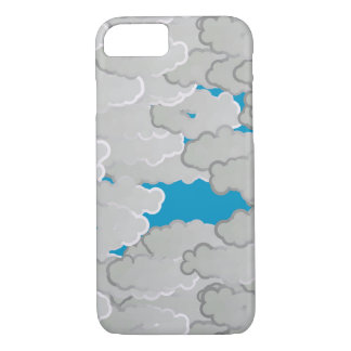 Japanese Clouds, Summer Day, White and Sky Blue iPhone 8/7 Case