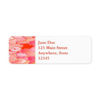 Japanese Clouds, Sunset, Coral, Fuchsia, Pink Return Address Label