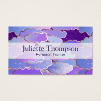 Japanese Clouds, Twilight, Violet and Deep Purple Business Card