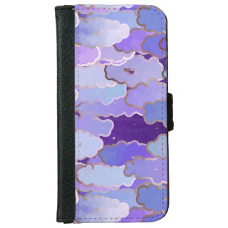 Japanese Clouds, Twilight, Violet and Deep Purple iPhone 6 Wallet Case