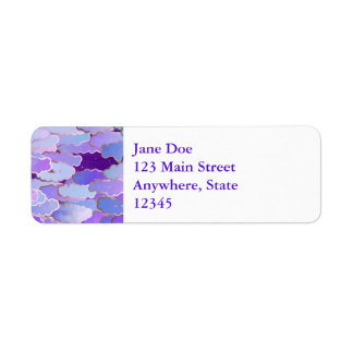Japanese Clouds, Twilight, Violet and Deep Purple Return Address Label