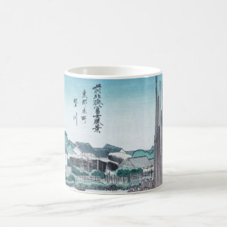 Japanese Construction Woodwork Ukiyo-e by Hokusai Coffee Mug