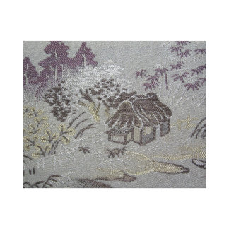Japanese Countryside Scene - Part 1 Gallery Wrapped Canvas