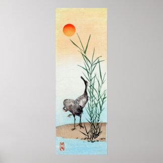 Japanese Crane no 2 Print