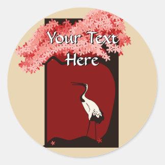 Japanese Crane Sticker
