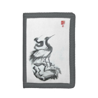 Japanese Cranes in Ink Wallet