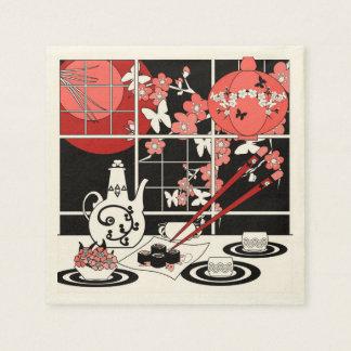 Japanese cuisine paper serviettes