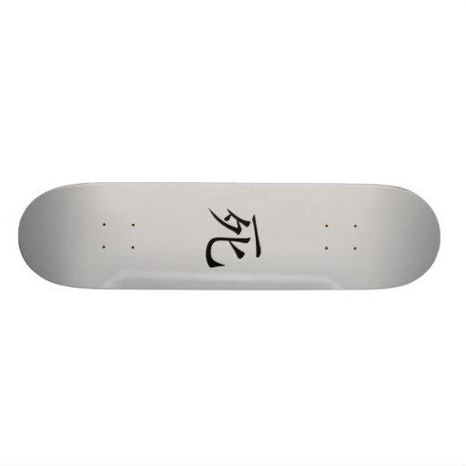Japanese Death Kanji Skateboard