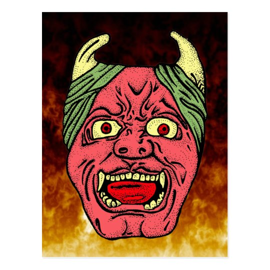 Japanese Devil's Head Postcards