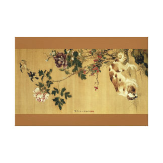 JAPANESE DOG ART canvas Canvas Print