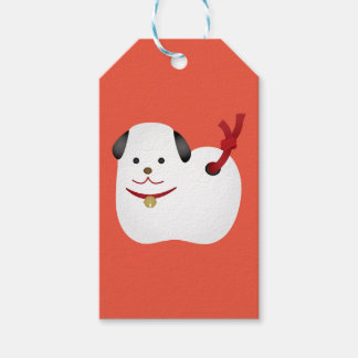 Japanese dog ornament gift tags