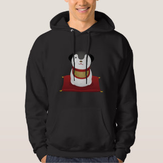 japanese dog ornament hoodie