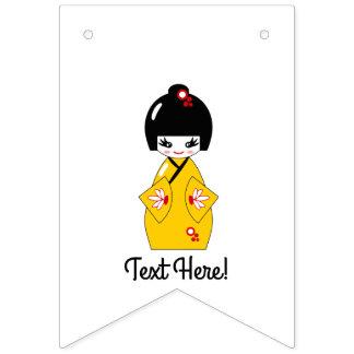 Japanese doll bunting