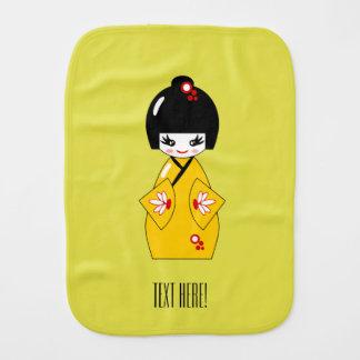 Japanese doll burp cloth