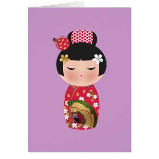 Japanese doll card