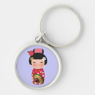 Japanese doll key chains