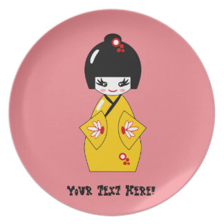 Japanese doll plate