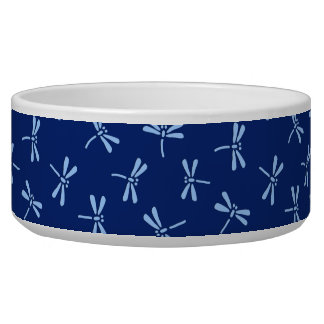 Japanese Dragonfly Pattern, Cobalt and Sky Blue