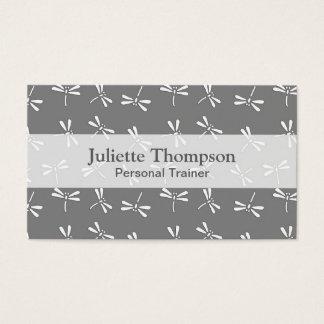 Japanese Dragonfly Pattern, Grey / Gray and White