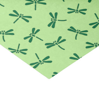 Japanese Dragonfly Pattern, Light Jade Green Tissue Paper