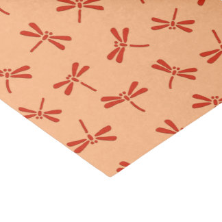 Japanese Dragonfly Pattern, Mandarin Orange Tissue Paper