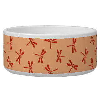 Japanese Dragonfly Pattern, Pastel Orange