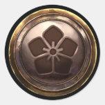 Japanese Emblem (Kamon) Round Stickers