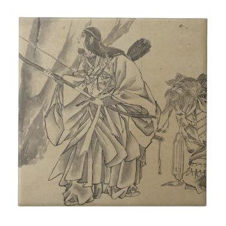 Japanese Empress circa 1800s Ceramic Tile