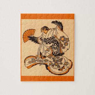 Japanese fairytale The Tongue Cut Sparrow Jigsaw Puzzle