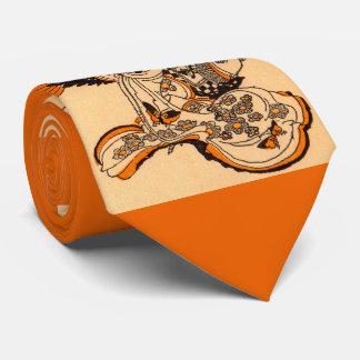 Japanese fairytale The Tongue Cut Sparrow print Tie