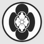 Japanese Family Crest(KAMON) of the Hotta's Round Sticker