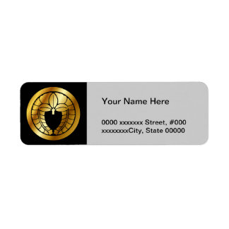 Japanese Family Crest (KAMON) Symbol Return Address Label