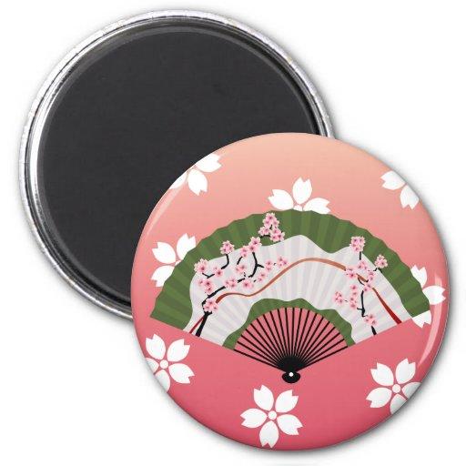 Japanese Fan 2 Fridge Magnet