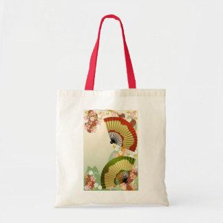Japanese Fan 3 green Tote Bag