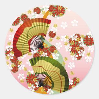 Japanese Fan 3 Round Sticker