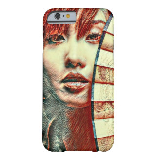 Japanese Fan Girl Fantasy Oil Pastel Art Barely There iPhone 6 Case