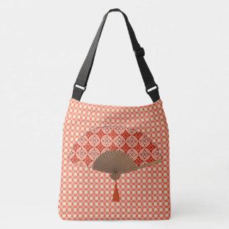 Japanese Fan, Shippo Motif, Mandarin Orange Tote Bag