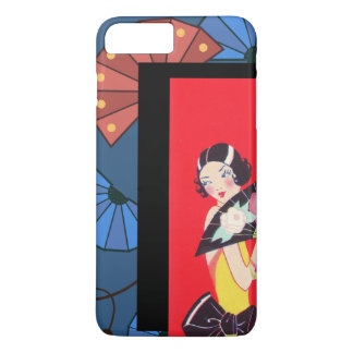 Japanese Fans and Girl Red Gold Blue iPhone 8 Plus/7 Plus Case