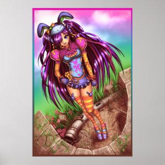 Japanese Fashion Anime Girl Print