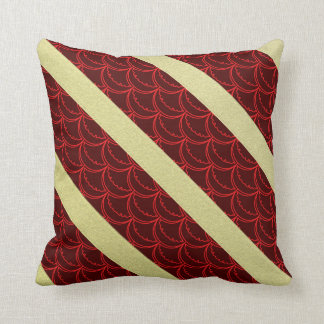 Japanese Fish scale  gold Polyester Throw Pillow