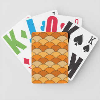 Japanese Fish Scale Pattern Bicycle Playing Cards
