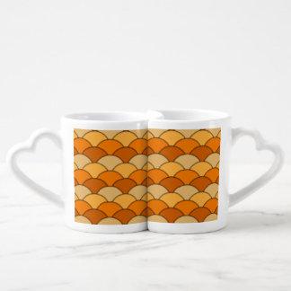Japanese Fish Scale Pattern Coffee Mug Set