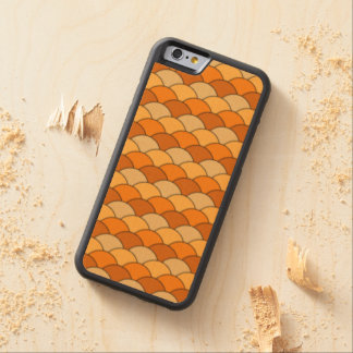 Japanese Fish Scale Pattern Maple iPhone 6 Bumper Case