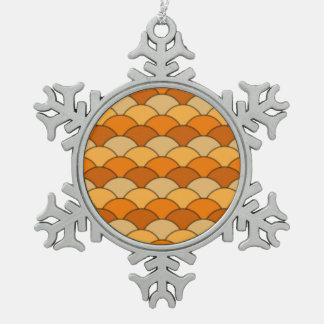 Japanese Fish Scale Pattern Pewter Snowflake Decoration