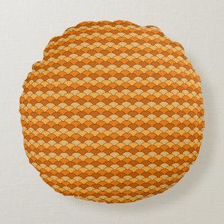 Japanese Fish Scale Pattern Round Cushion