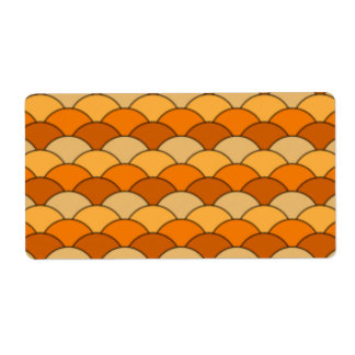 Japanese Fish Scale Pattern Shipping Label