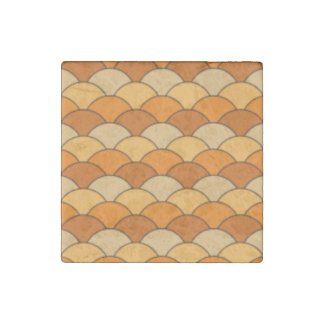 Japanese Fish Scale Pattern Stone Magnet
